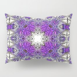 Palm Leaves Abstract Art Pattern Pillow Sham