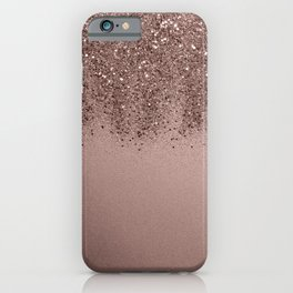 Sparkling Rose Gold Blush Glitter #3 (Photography) #shiny #decor #art #society6 iPhone Case