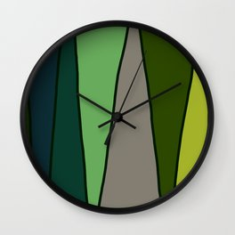 Green Abstract Pattern Turtle Wall Clock