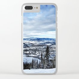 Bluebird Day Clear iPhone Case
