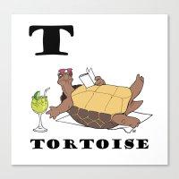 tortoise Canvas Prints featuring Tortoise by Dangerous Onion