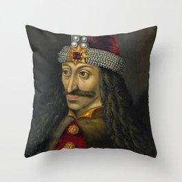 Vlad the Impaler Portrait Throw Pillow