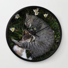 Sleep [A CAT AND A KITTEN] Wall Clock