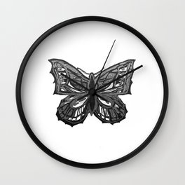 The Beauty in You - Butterfly #2 #drawing #decor #art #society6 Wall Clock