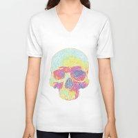 terminator V-neck T-shirts featuring Terminator by Rajasegar Chandiran