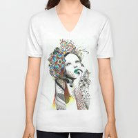 imagine V-neck T-shirts featuring Imagine by Teixeira Emanuel (Etex85)