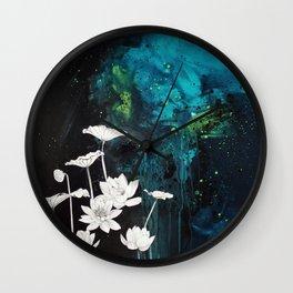 Lotus Study Wall Clock