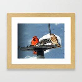 Share the space Framed Art Print