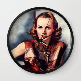 Carole Lombard, Actress Wall Clock