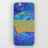 montana iPhone & iPod Skins featuring Montana Map by Roger Wedegis