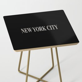 New York City (type in type on black) Side Table