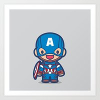 captain silva Art Prints featuring Captain by Papyroo