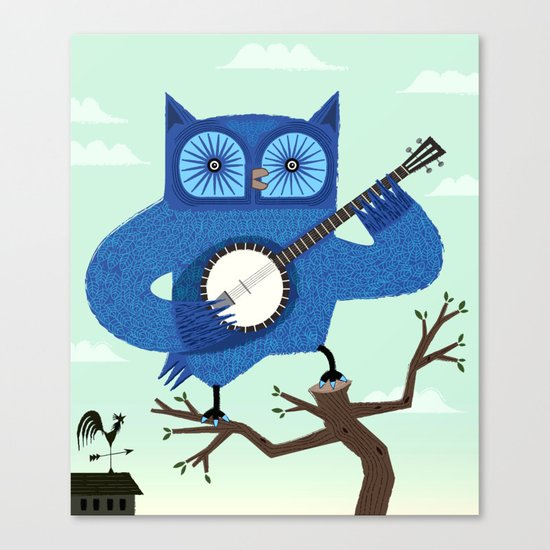 The Banjowl Canvas Print