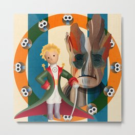 The Little Prince, Groot and owls  Metal Print