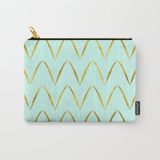 Mint Gold Foil 05 Carry-All Pouch