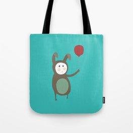 Bunny boy with a balloon Tote Bag