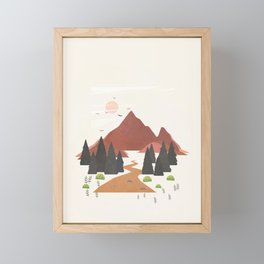 Finding the Path 03 Framed Mini Art Print
