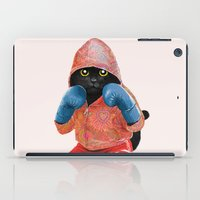 boxing iPad Cases featuring Boxing Cat 2  by Tummeow