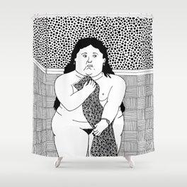 Botero - Woman in bath Shower Curtain