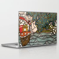 constellations Laptop & iPad Skins featuring Constellations by Love on a Bike