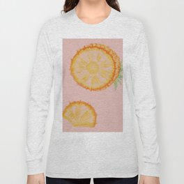 Pineapple on pink Long Sleeve T-shirt