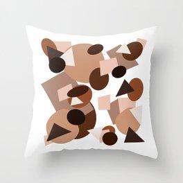 A shape study on skin tone Throw Pillow