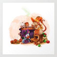 Caramel Witches Brew Art Print