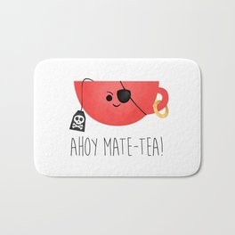 Ahoy Mate-tea! Bath Mat