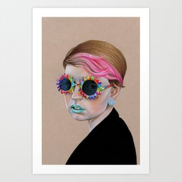 Pop Glasses Art Print