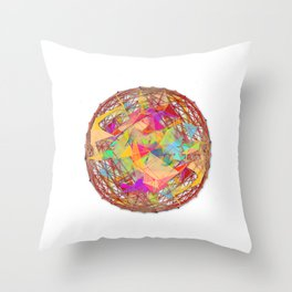 Abstract String Ball Throw Pillow