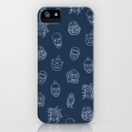 Little Monsters (blue) iPhone Case