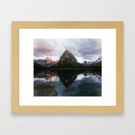 Swiftcurrent Sunrise Framed Art Print