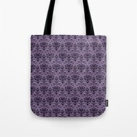 haunted mansion Tote Bags featuring The Haunted Mansion by GeekCircus