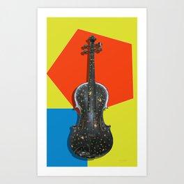 Funky Violin Art Print