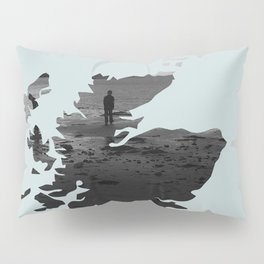 'Wandering' Scotland map Pillow Sham