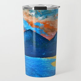 Evening Tide at Murlough - Abstract Seascape Oil Painting Travel Mug