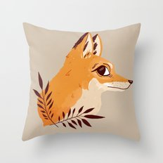 Fox Familiar Throw Pillow