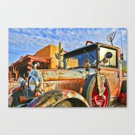 Old Trucks Never Die Canvas Print