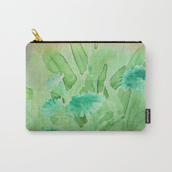 Elegant Soft Watercolor Floral  Carry-All Pouch