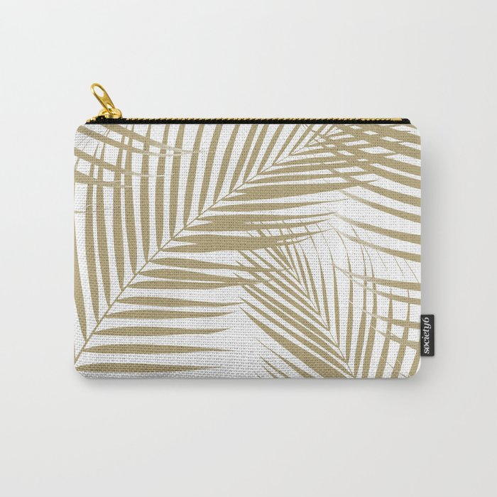 Palm Leaves - Gold Cali Vibes #1 #tropical #decor #art #society6 Carry-All Pouch