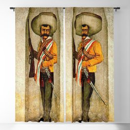 """""""Zapata"""" by Diego Rivera Blackout Curtain"""