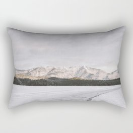 Frozen Lake Views - Landscape Photography Rectangular Pillow