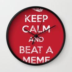 Keep Calm and Beat a Meme to Death Wall Clock