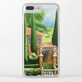 Villa of Lago d' Como Clear iPhone Case