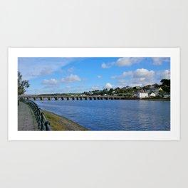 BIDEFORD LONG BRIDGE DEVON Art Print