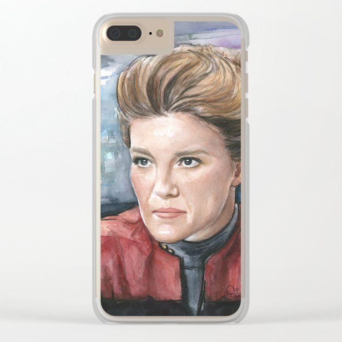 Captain Kathryn Janeway Clear iPhone Case