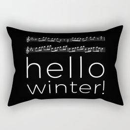 Hello winter! (black) Rectangular Pillow