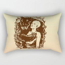 Protect the girl Rectangular Pillow