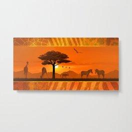 Africa Romantic Metal Print