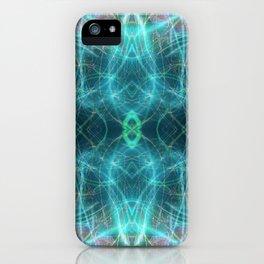 Abstract Light-trails Mandala 777 iPhone Case